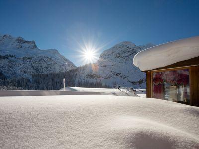 Zug im Winter, Lech am Arlberg